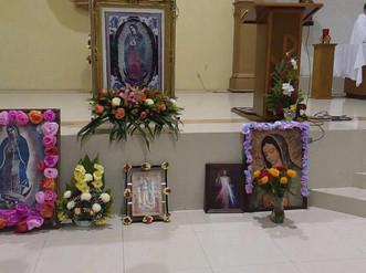 Procesión de la virgen de Guadalupe en Don Bosco