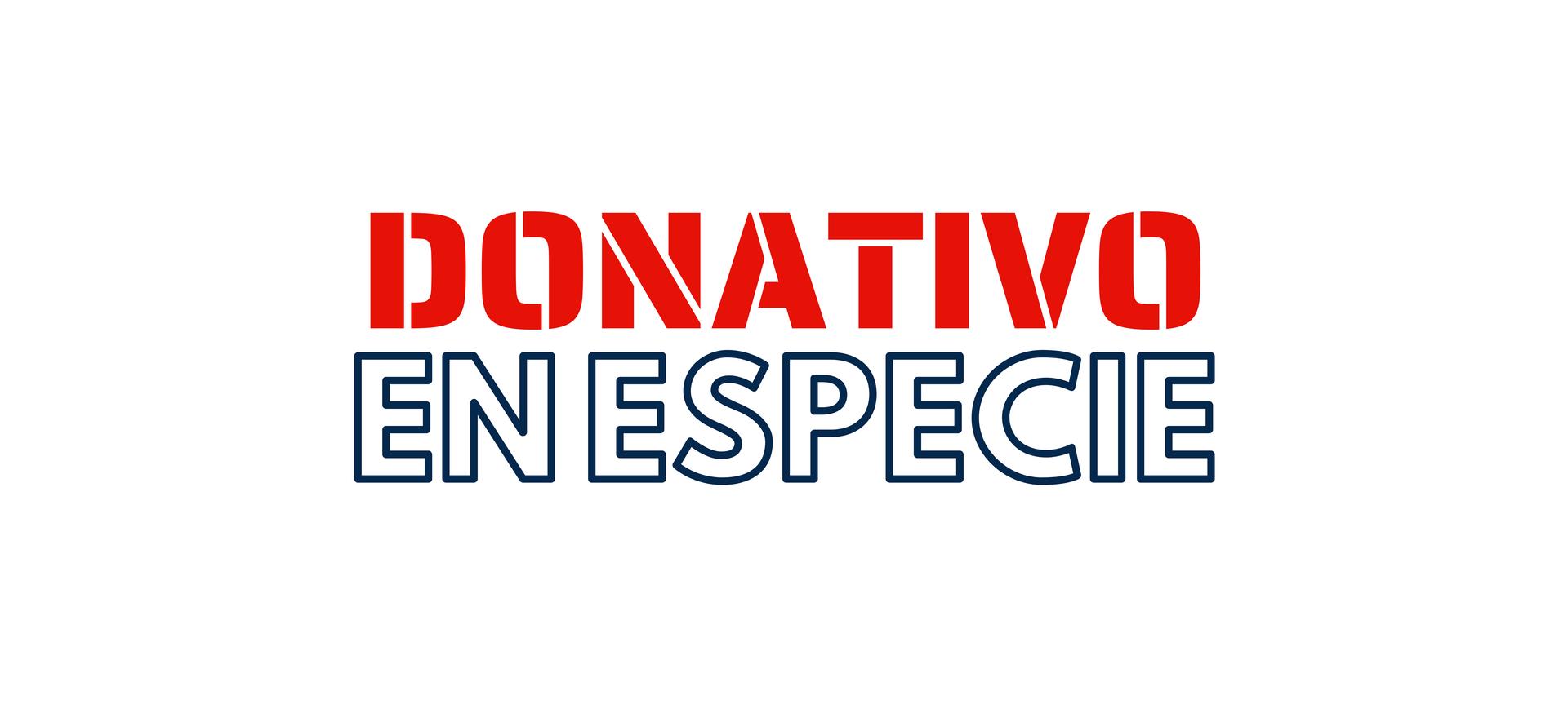 Donativo en Especie
