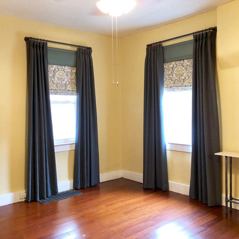 Custom Drapery, Roman Shades, and Cornice Boards