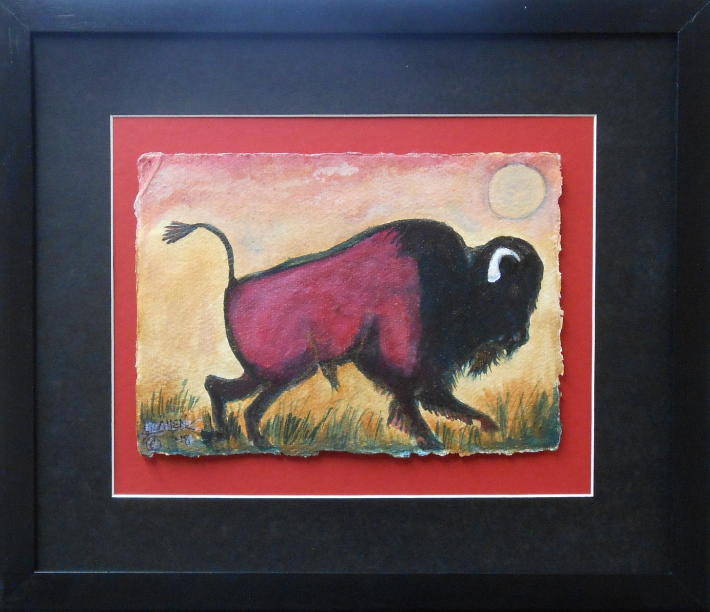 Red Sunrise Bison