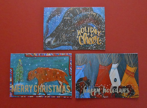 Pack of 6 4x6 Greeting Cards With Envelopes Two of Each. Inscription Inside $20
