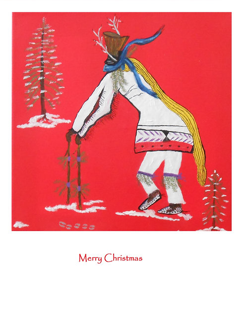 Taos Pueblo Christmas Eve Deer Dance Inside is blank  6 cards and envelopes $20
