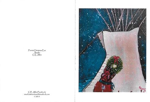 "Prairie Christmas Eve  Boxed set of 6 card & envelopes 4""x 6"" $20"