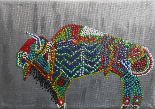 Beaded Bison