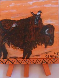 Prairie Pals Acrylic 4inx4in $25 VC MT