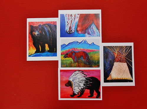 Pack of Five 4x6 Greeting Cards With Envelopes. Blank inside $16