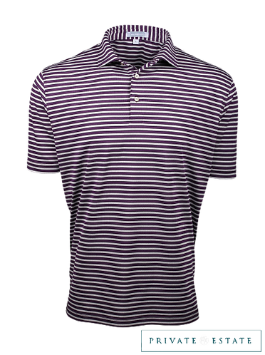Chandler Multi StrPerformance Polo Shirt – Grape