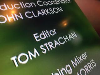 Finally an Editor credit on TV!