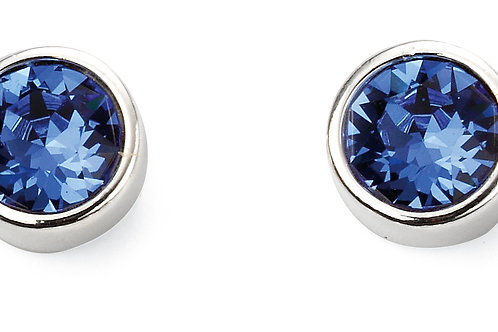 Silver and Crystal by Swarovski Earrings - September Birthstone