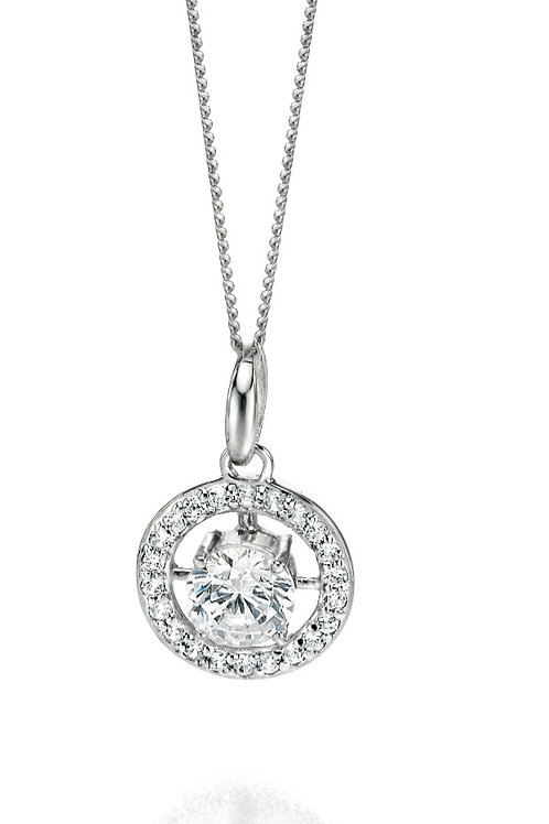 Fiorelli Silver with Cubic Zirconia Pendant and Chain