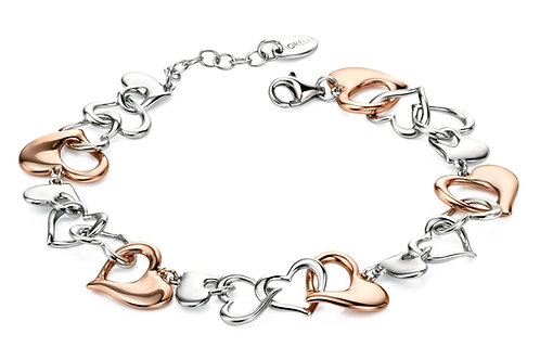Fiorelli Silver and Rose Gold plated Bracelet