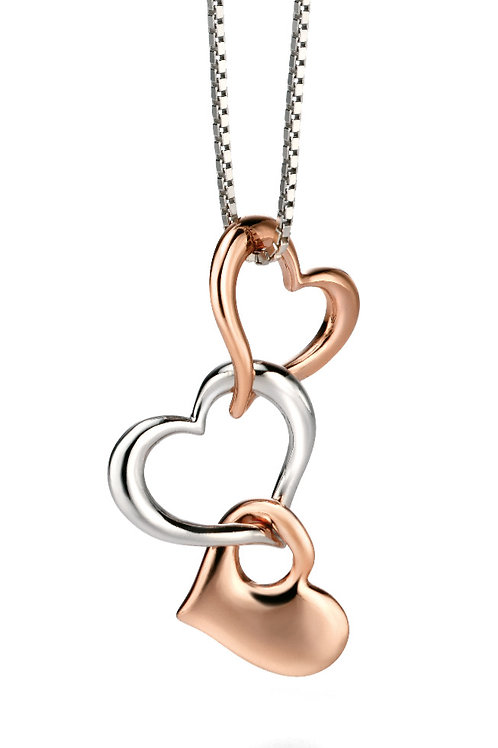 Fiorelli Silver and Rose Gold plated Pendant and Chain