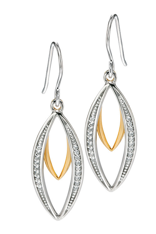 Fiorelli Silver and Gold plated with Cubic Zirconia Earrings