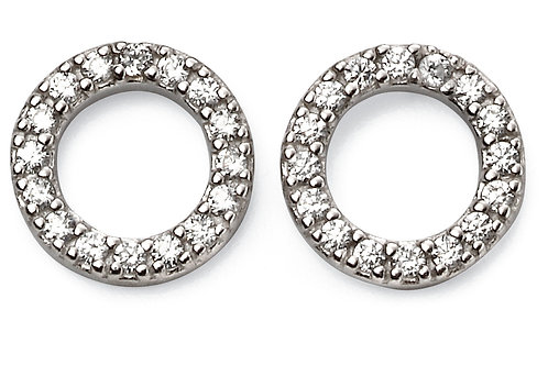 Silver with Cubic Zirconia Earrings