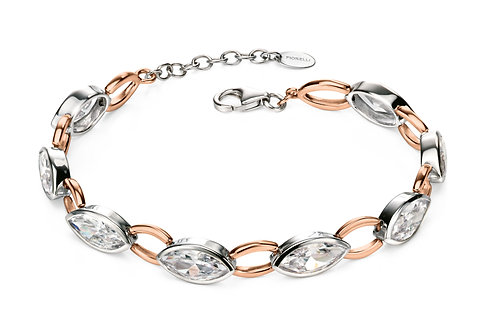 Fiorelli Silver and Rose Gold plated with Cubic Zirconia Bracelet