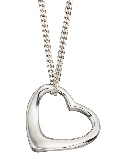 Silver Heart Pendant and Chain