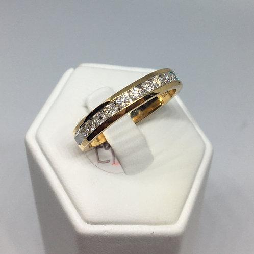 18ct Gold Half Eternity Diamond Ring