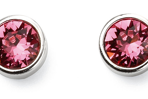 Silver and Crystal by Swarovski Earrings - October Birthstone