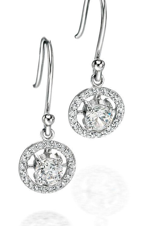 Fiorelli Silver with Cubic Zirconia Drop Earrings