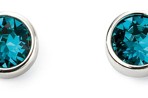 Silver and Crystal by Swarovski Earrings - December Birthstone