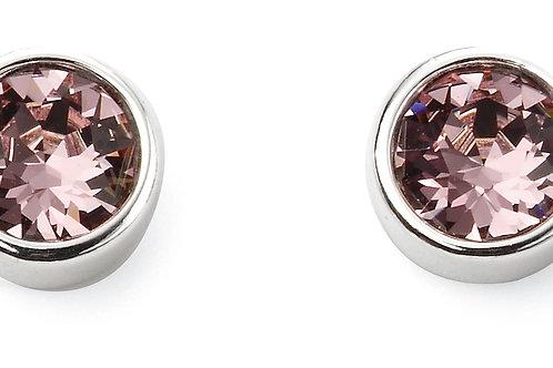 Silver and Crystal by Swarovski Earrings - June Birthstone