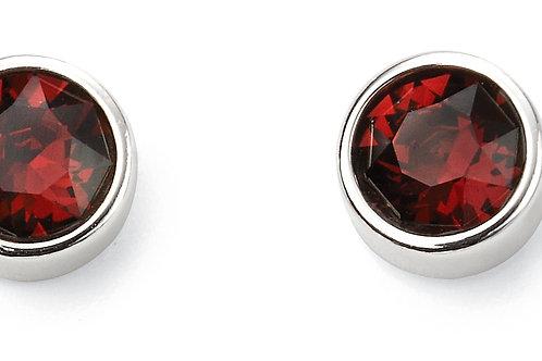 Silver and Crystal by Swarovski Earrings - January Birthstone