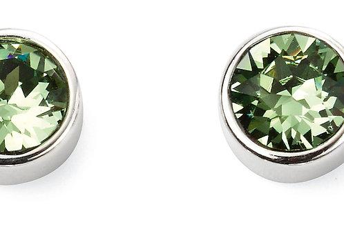 Silver and Crystal by Swarovski Earrings - August Birthstone