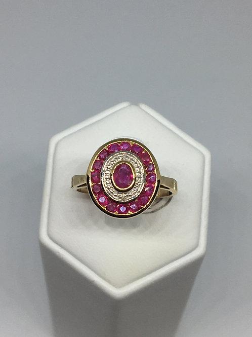 9ct Gold Ruby Diamond Ring