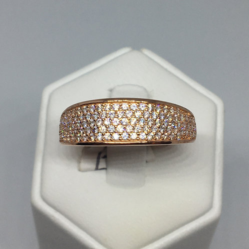 9ct Rose Gold Cubic Zirconia Ring