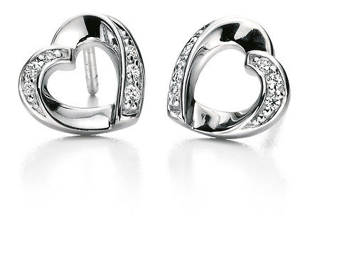 Fiorelli Silver with Cubic Zirconia Earrings