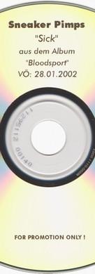 Sneaker Pimps Sick Promo CD Single Art