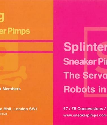 Sneaker Pimps ICA Flyer