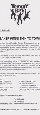 Sneaker Pimps Bloodsport Press Sheet