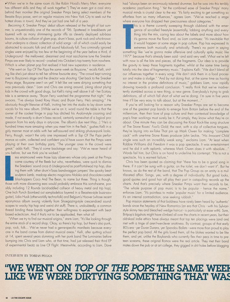 Sneaker Pimps I.D Magazine Interview