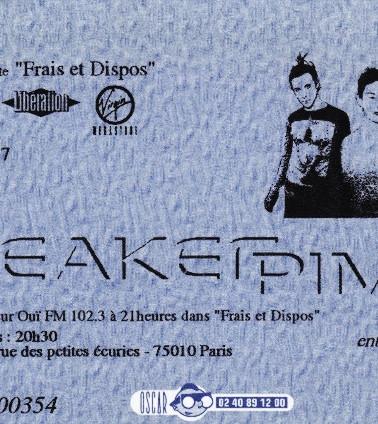 Sneaker Pimps Ticketstub