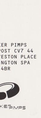 Sneaker Pimps 1997 Postcard