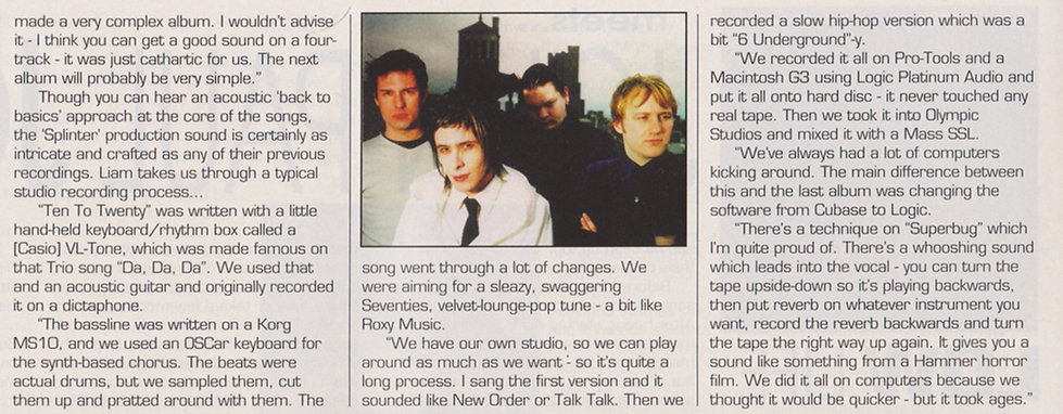 Sneaker Pimps Making Music Interview
