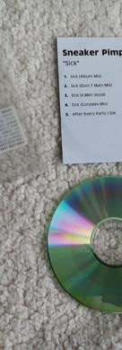 Sneaker Pimps Sick Promo CDr Single