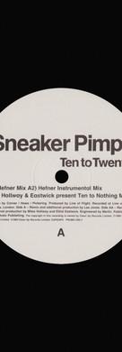 Sneaker Pimps Ten To Twenty 12'' Single 3 Art