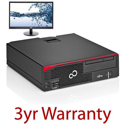 "FUJITSU D556 Pentium + 21.5"" Monitor & 3yr Warranty"