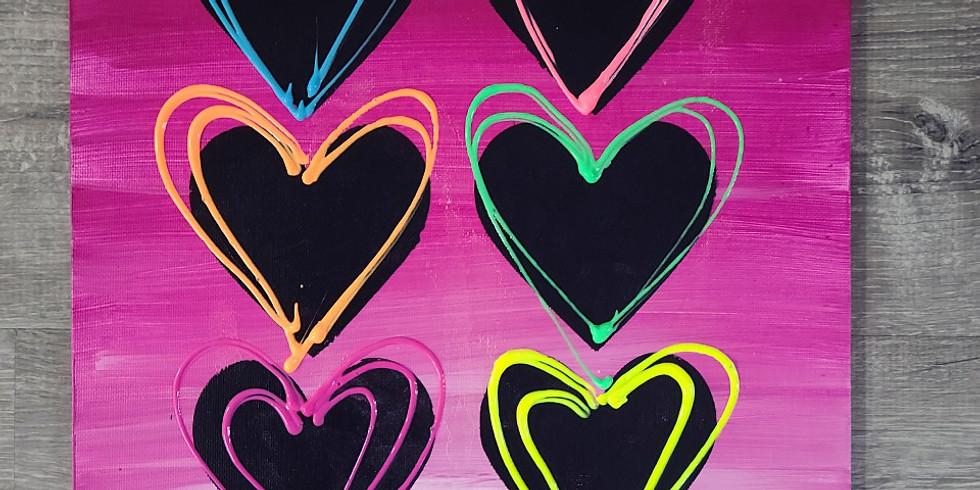 Kids Valentines Painting 1pm