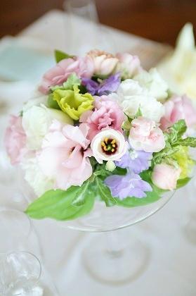 テーブル装花・ブーケ・花束 美しく生花保存いたします