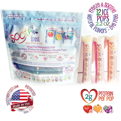 Drug Free Oral Tissue Supplement ~ 12 ICE POPs (Order 2 For Free Shipping!)