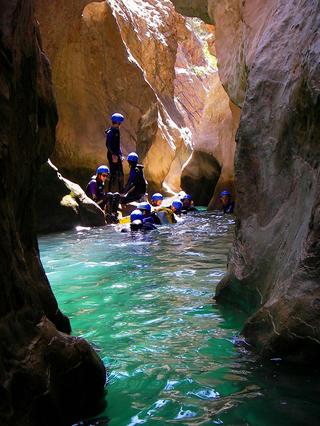 canyoning espagen guara
