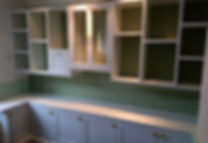 painted shaker office cabinetry