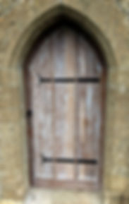 limed oak arch door gothic