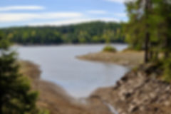 The Breisjøen lake has very low water le