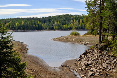 The Breisjøen lake has very low water le