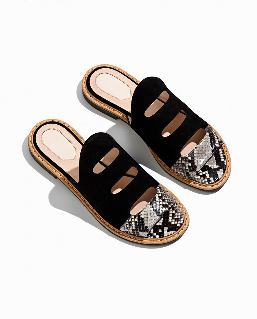 Sandalias de cuero de moda