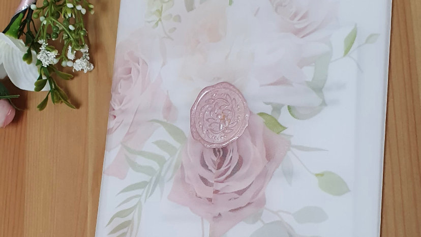Penny Blush Pink Vellum Invitation